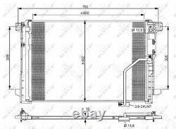 A/C Air Condenser Radiator MBW204, W212, S212, S204, X204, C207, A207, X218, C218