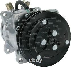 A/c Air Con Conditioning Pump Compressor For Jcb 24 Volt 2 Groove Sd7h15