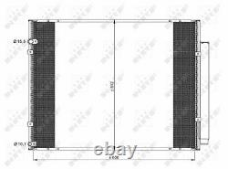Air Con Condenser fits LEXUS RX400h MHU38 3.3 04 to 08 3MZ-FE AC Conditioning
