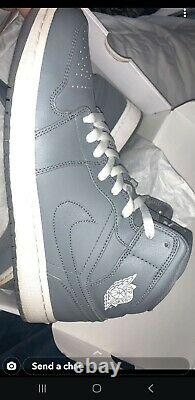 Air Jordan 1 Mid Cool Grey Size 12 Very Good Pre-owned Condition. Near DS Con