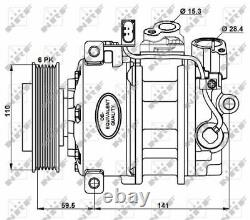 Compressor, Air Conditioning For Audi Nrf 32883