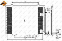 Der Kondensator, Die Klimaanlage Für Mercedes Benz Clk Cabriolet A208 M 111 945