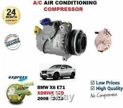FOR BMW X6 E71 E72 xDrive 35d 2008-2010 NEW AC CON AIR CONDITIONING COMPRESSOR