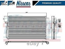 For Bmw 5 Series E60 E61 Nissens Air Conditioning Radiator A/c Air Condenser