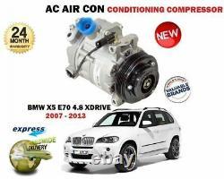For Bmw X5 E70 4.8 + Xdrive 48 2007-2013 New Ac Air Con Condition Compressor