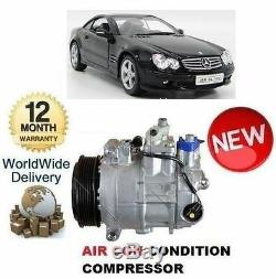 For Mercedes Sl500 Sl55 Amg R230 2002-2012 Ac Air Con Conditioning Compressor