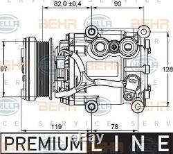 HELLA AC Compressor for Ford Fiesta, Focus, Fusion, Tourneo, Transit, Mazda 2