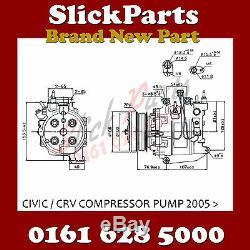 Honda CIVIC A/c Air Con Compressor Pump 1.6 1.4.1.8 2005 2013 Brand New
