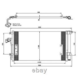 Kondensator Klimaanlage NRF 35639