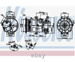 NISSENS Compressor, air conditioning 89226