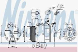 Nissens 89022 AC Compressor fit MERCEDES SPRINTER 95-06