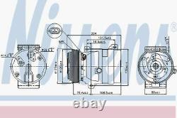 Nissens AC Compressor 89063 Fits RENAULT