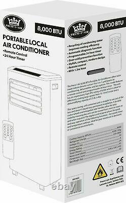 Prem-I-Air 8000 BTU Portable Air Con Conditioning Conditioner Unit Fan Remote
