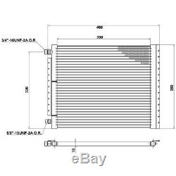 Universal Air Conditioning Condenser Radiator 468 x 350mm AC AirCon