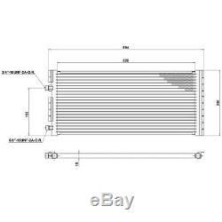 Universal Air Conditioning Condenser Radiator 593 x 250mm AC AirCon